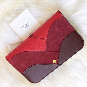 💃Kate Spade Nadine Patchwork medium clutch wallet